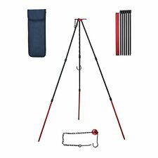 Camping Tripod,Portable Outdoor Cooking Tripod with Adjustable Chain