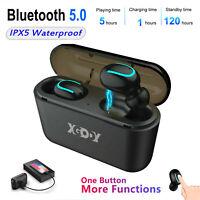 XGODY Wireless Bluetooth Kopfhörer Headset In Ear Wasserdicht + Ladestation Mic