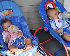 Baby Bottle Holder, Hands Free Feeding, Twins, Triplets, Multiples, Blue