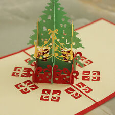 3D Handmade Creative Christmas Tree Greeting Card New Year Gifts Best Wishes