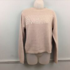 Affections Womens Jumper soft grey iridescent sequins Angora Lambswool one size
