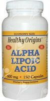 Healthy Origins, Alpha-Liponsäure, 600mgx150caps Versand Am Gleichen Tag vor 2PM