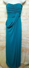 AMSALE Women Size 6 Teal Blue Strapless Maxi Gown Prom Bridesmaid Dress .117