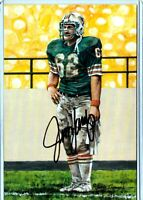 Miami Dolphins JIM LANGER 88/100 autographed signed Goal Line Art Gold Seal auto