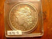 1878-S Morgan Dollar BU With Toning