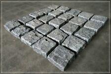 Pflastersteine, Granitpflaster auf Netz, 50x50x3cm, Padang Black, 16,80€, NEU!