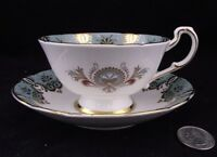 PARAGON CABINET TEA CUP AND SAUCER FLORAL FOOTED WITH GOLD
