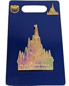 WDW 50th Anniversary EARidescent Cinderella Castle Walt Disney World Pin