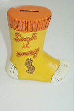 "Vintage ""Sock It Away"" Coin Bank L#203"