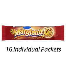 MARYLAND CHOC CHIP & HAZELNUT BISCUITS COOKIES 145g x 16 PACKETS 224317