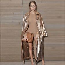 CA Winter Women's Gold Sequined Coats Cardigan Long Sleeve Sexy Coat