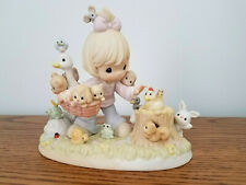New ListingPrecious Moments Collecting Friends Along The Way Pm002 Girl with animal friends