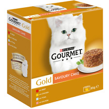 Purina Goumet Gold Savoury Cake 3x Beef 3x Chicken 3x Salmon 3x Tuna 12x85g Tins