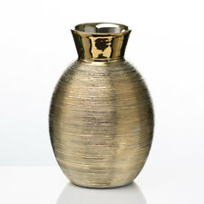 "Richland Vase Elegant Ceramic 6.5"" Home Event Decor Metallic Wedding Centerpiece"