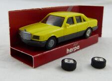 Mercedes 500 SE gelb Herpa 1:87 H0 OVP [BA5]