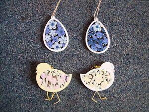 Gisela Graham Wooden Easter Decorations