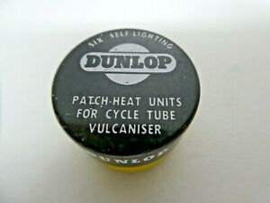 VINTAGE DUNLOP BIKE TYRE PUNCTURE REPAIR KIT TIN WITH CONTENTS