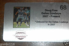 "Doug Free #68 Dallas Cowboys Texas Stadium Seat Custom Metal Plate 3""x5"" NFL"