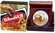 2014 $1 Spider Hunting Scorpion 1oz Silver Proof Coin  CERTIFICATE NUMBERED: 354