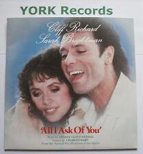"CLIFF RICHARD & SARAH BRIGHTMAN - All I Ask Of You - 7"" Single Polydor POSP 802"