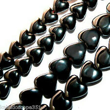 MAGNETIC HEMATITE PUFFY HEART BEADS 6MM JEWELRY CRAFT BEAD STRAND MH48