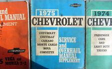 1975 CHEVROLET OVERHAUL MANUAL CAMARO CORVETTE CHEVELLE MONTE CARLO NOVA