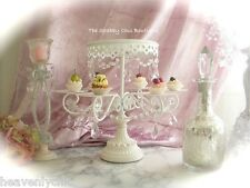 Girls White Shabby Chic Cupcake Birthday Cake Table Display Stand Pink Prisms Nw