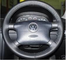 Pour VW CARAVELLE T4 1990-2003 noir en cuir volant couverture de qualité supérieure nouveau