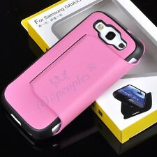 New Pink PU Leather Side Flip Stand Case Cover For Samsung Galaxy S 3 III I9300
