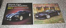 2 Cars Calendar 2011 Muscle Cars & Power Wheels Seal FREE SHIPPING
