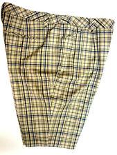 *NWT INC Water Lily Plaid Shorts sz 14-Org $79 Nice!