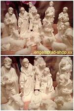 16 cm herrl. große roh KRIPPENFIGUREN 20-Teilig  krippe weihnacht weihnachten