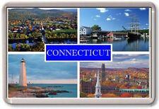 FRIDGE MAGNET - CONNECTICUT - Large - USA America TOURIST
