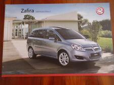 Vauxhall Zafira brochure 2008 models Ed 2