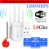 1200 MBPS DUAL WiFi Range Extender Internet Booster Wireless Signal Repeater