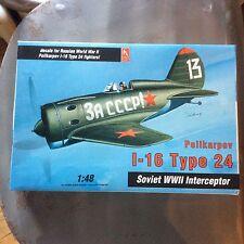Polikarpov I-16 Type 24 Soviet WWII Interceptor Airplane -Hobby Craft- HC1576