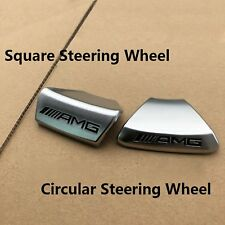NEW Steering Wheel with AMG Logo Emblem Sticker Badge Cover For Mercedes Benz