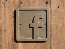 FACEBOOK Logo Door Sign. Bronze Resin wall plaque. Etsy & Stall advertising