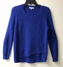 Madewell Women's Blue Waffle Knit Thermal Top Med Womans Blouse Hi Lo Top