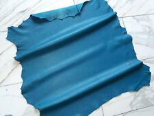 LEDER TIP 32834-O, Lederreste, 1 Lederhaut, türkisblau nappa