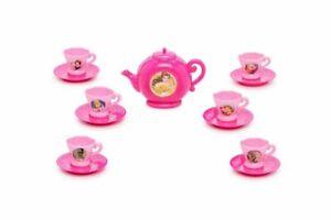 Disney Princess 13 Pcs Mini Pink Plastic Girls' Toy Tea Party Set