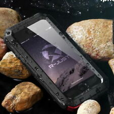 iPhone & Samsung Waterproof Shockproof Aluminum Metal Case Cover +Tempered Glass