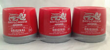 BRYLCREEM 3 x 250ml ORIGINAL HAIR STYLING RED TUB STOCK UP