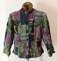 Orvis Women's Wool Blend Floral Paisley Button Jacket Blazer Size M