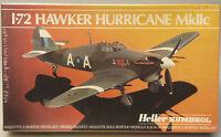 (PRL) HAWKER HURRICANE MkIIc MONTAGGIO MODELLINO MODEL 1:72 PLANE AVION HELLER