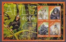 Liberia 2012 Affen aus Afrika / Apes Block **