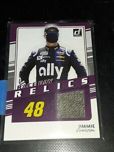 2021 Donruss Racing Jimmie Johnson *Race Day Relics* Relic Card!