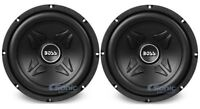 """2) New Boss CXX10 10"""" 1600W 4-Ohm Car Audio Power Subwoofer Sub Woofer Stereo"""