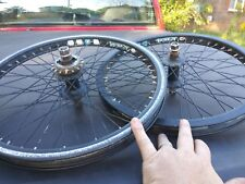 Hoffman Bmx Wheels 48H x rims 14mm axels haro s&m dk alex pk ripper gt dyno