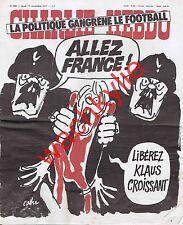 Charlie Hebdo n°366 du 17/11/1977 CRS Klaus Croissant Football Cabu